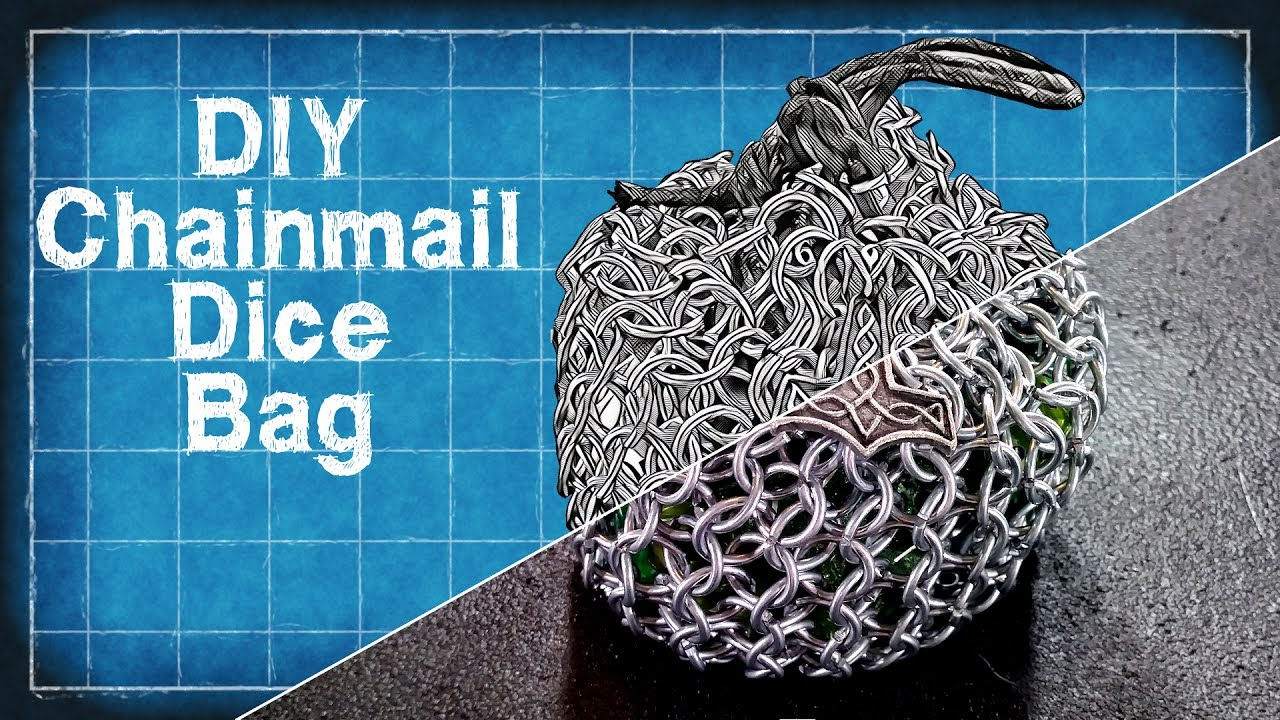 diy chainmail dice bag beginners chainmail tutorial diy with cly
