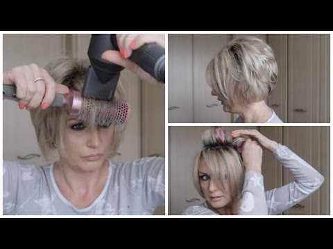 How I Blow Dry My Short Stacked Bob & What Is My Hair Color
