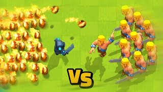 Fire PEKKA vs Barbarian Army | Clash Royale Funny Moments & Glitches & Fails #87