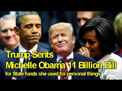 Image result for trump sends a bill to Michelle Obama