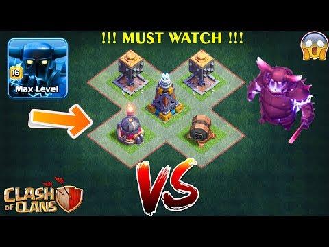 Super Pekka Vs All Defense In Builder Hall | Builder  Base - Clash Of Clans