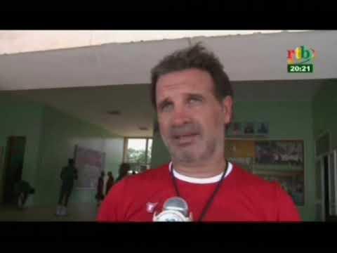 RTB/Sport - préparation des étalons avant le match contre les aigles du Botswana
