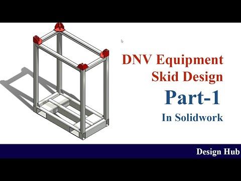 Small equipment handling skid as per DNV skid