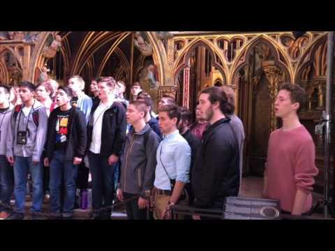 "Emmaus High School Chorale - ""Sainte-Chapelle"" (Eric Whitacre) - Recorded at Sainte-Chapelle"