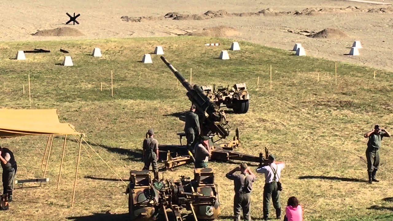 German Flak 37 at Conneaut D-Day reenactment 2015