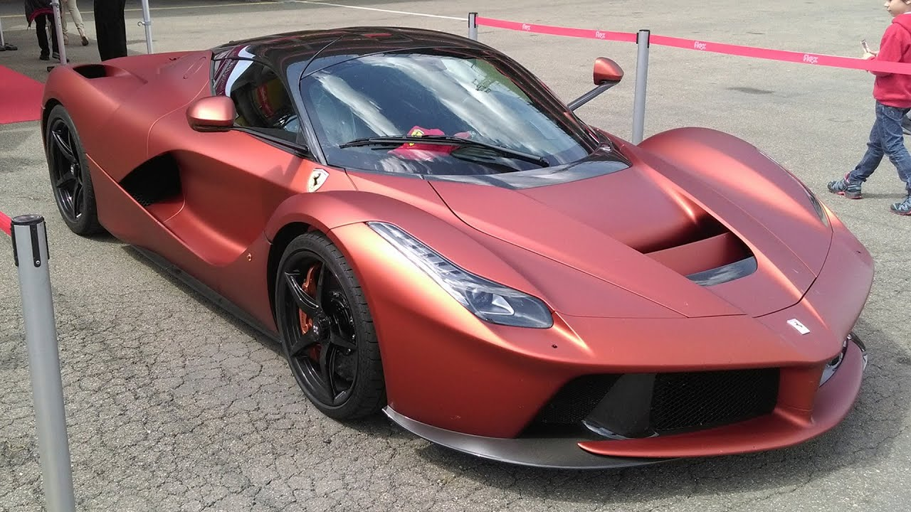 Matte Orange Ferrari Laferrari At Mugello For Racing Days