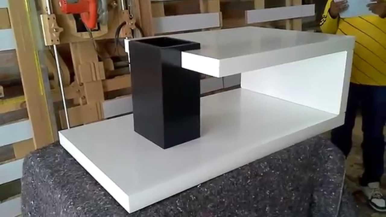 muebles coffee mesa de centro ref green en color blanco y negro semimate