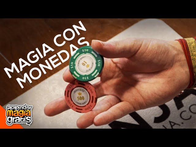 TRUCO PROFESIONAL con MONEDAS CHIP TWIRL  Aprender magia gratis