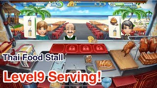 New!!!【Cooking Fever】Thai Food Stall Level9 2Stars