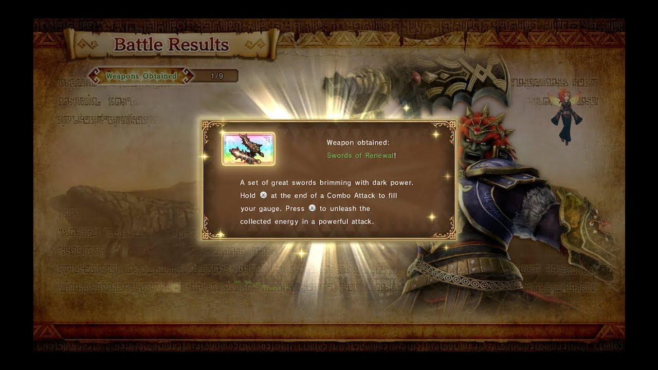 Hyrule Warriors Definitive Edition Unlock The Demon King Ganondorf S Lv4 Swords Of Renewal