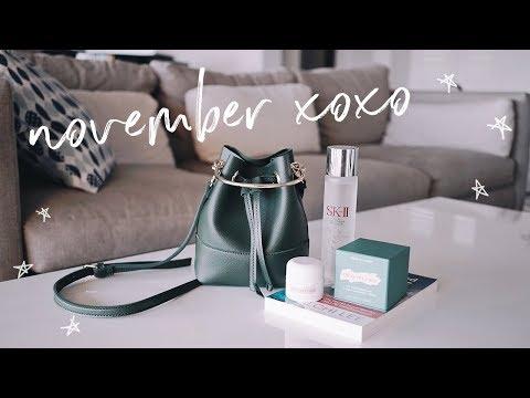 November Favorites 2017   new bag, skincare, book!