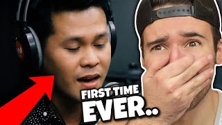 "FIRST TIME REACTION to Marcelito Pomoy - ""The Prayer"""