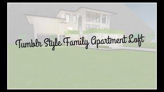 Roblox: Welcome to Bloxburg   Tumblr Style Family Apartment Loft   45k   Speedbuild  