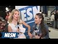 Alyssa Milano Showcases Sports Clothing Line On Radio Row
