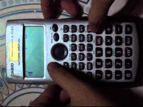 Hack casio fx 570ES_ERROR