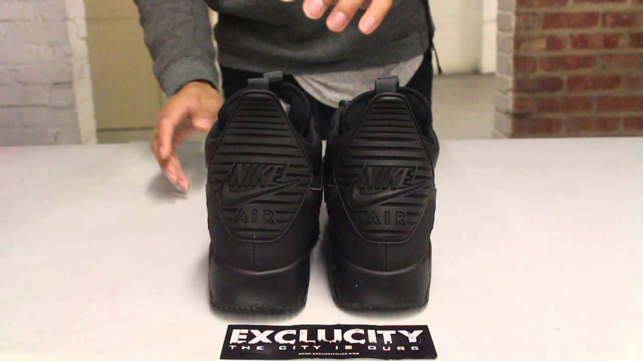 buy popular 6ce79 820b2 air max 90 sneakerboot black