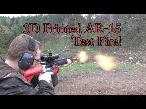 3D Printed AR-15 Test Fire!!