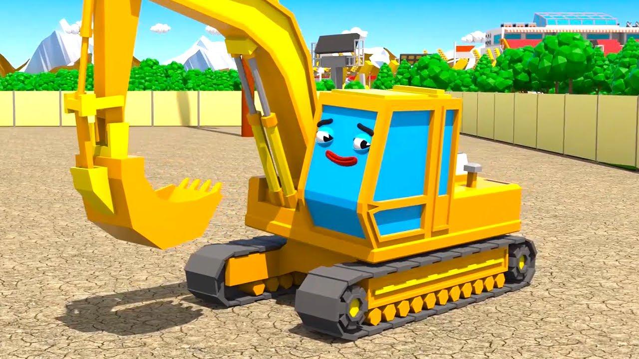 Los diamantes de la Excavadora - Cars Town - Dibujos animados para niños