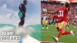 Surfer in the Super Bowl?! 49ers Raheem Mostert's Surfing Background | Surf Breaks