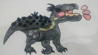 Tutorial Dibujar al Indoraptor Kawaii