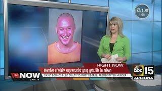 Member of white supremacist gang gets life in prison
