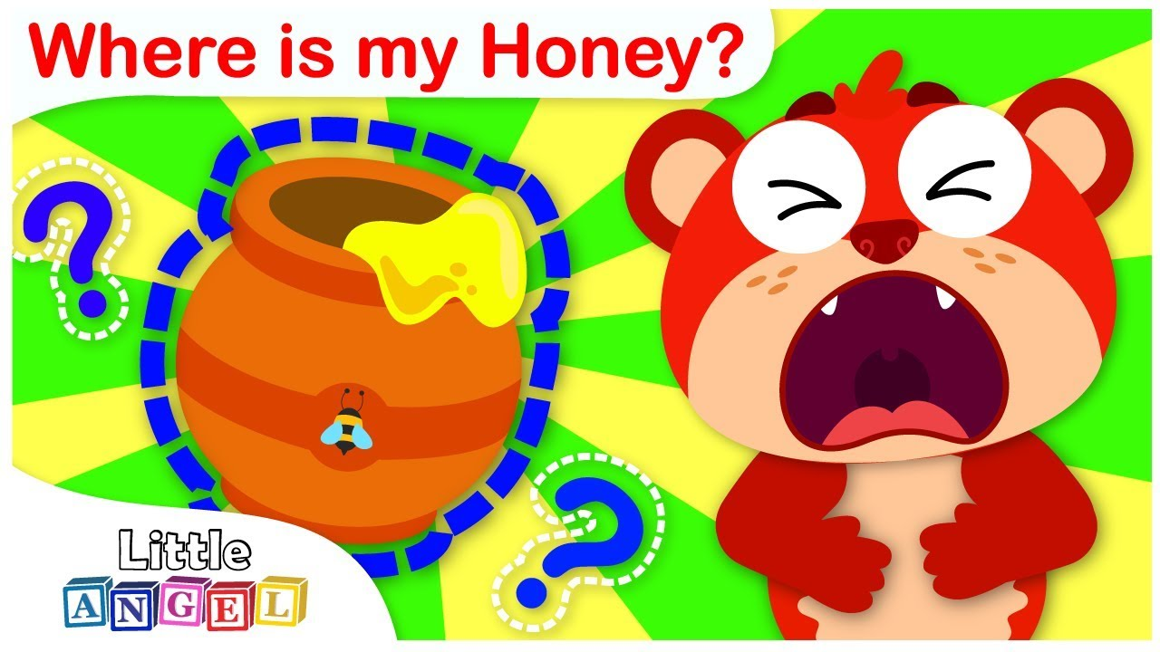 Where is my Honey?   Baby Bear is Hungry   Nursery Rhymes by Little Angel