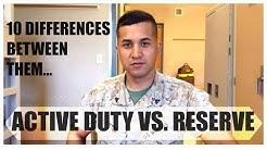 Marines: Active VS. Reserve