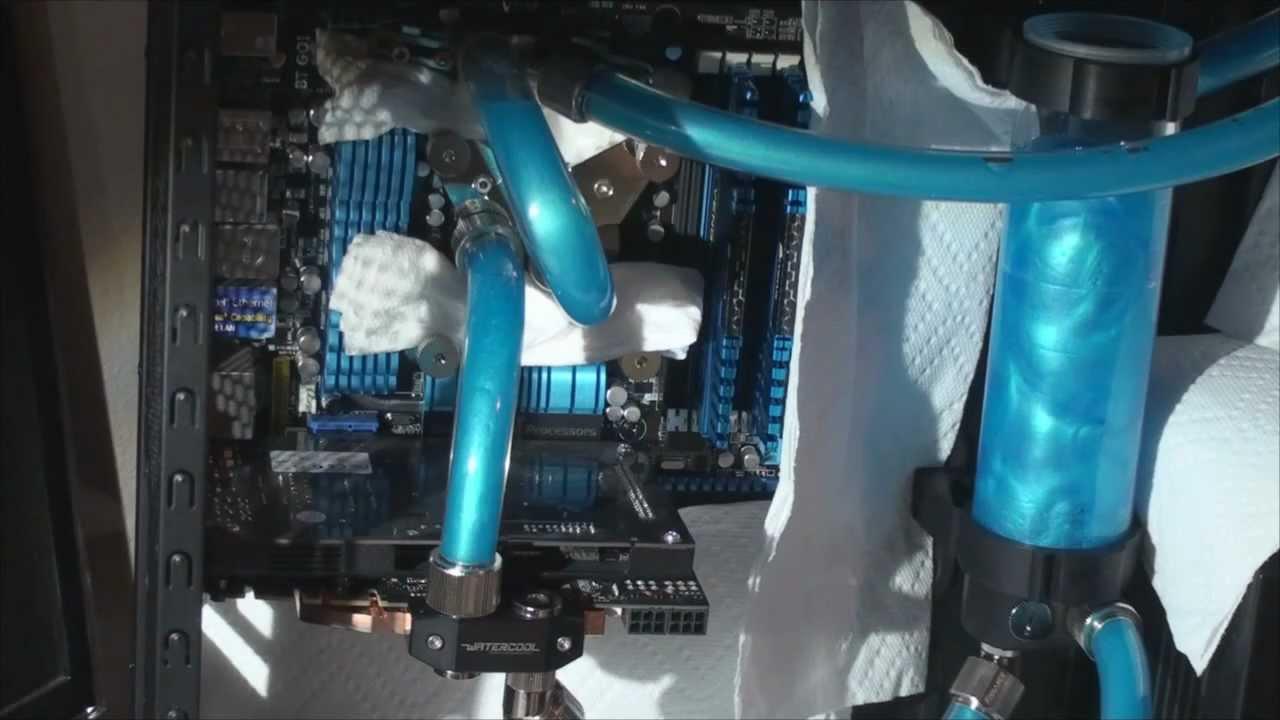 Corsair 800d Water Cooling Build Part 4 Filling The Loop
