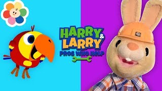 Harry And Larry Pretend Play Carpenter | Occupations & Jobs Song for Kids | Baby Shows | 1 Hour