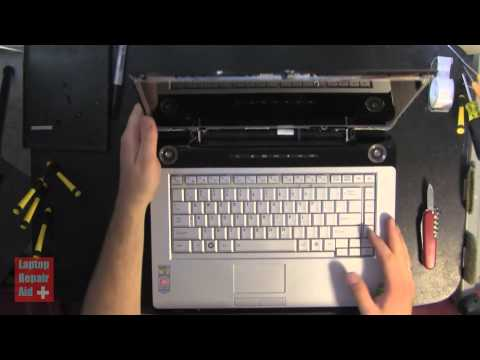 TOSHIBA A215 HOW TO REMOVE LCD SCREEN