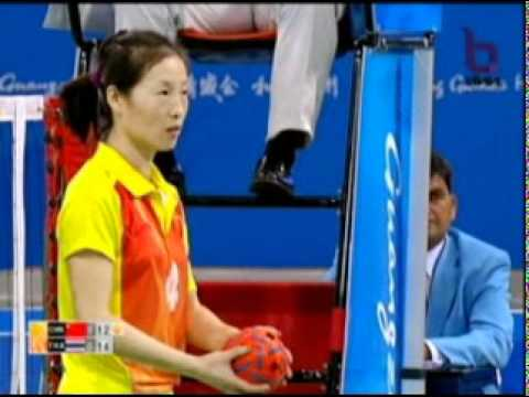 Sepak Takraw(Women's Team A+B) @2010 Asian Games - Thailand vs China (Gold Medal Match) 7/10