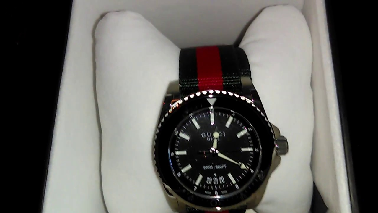 cadc25f23bf Authentic Gucci dive watch review - YouTube