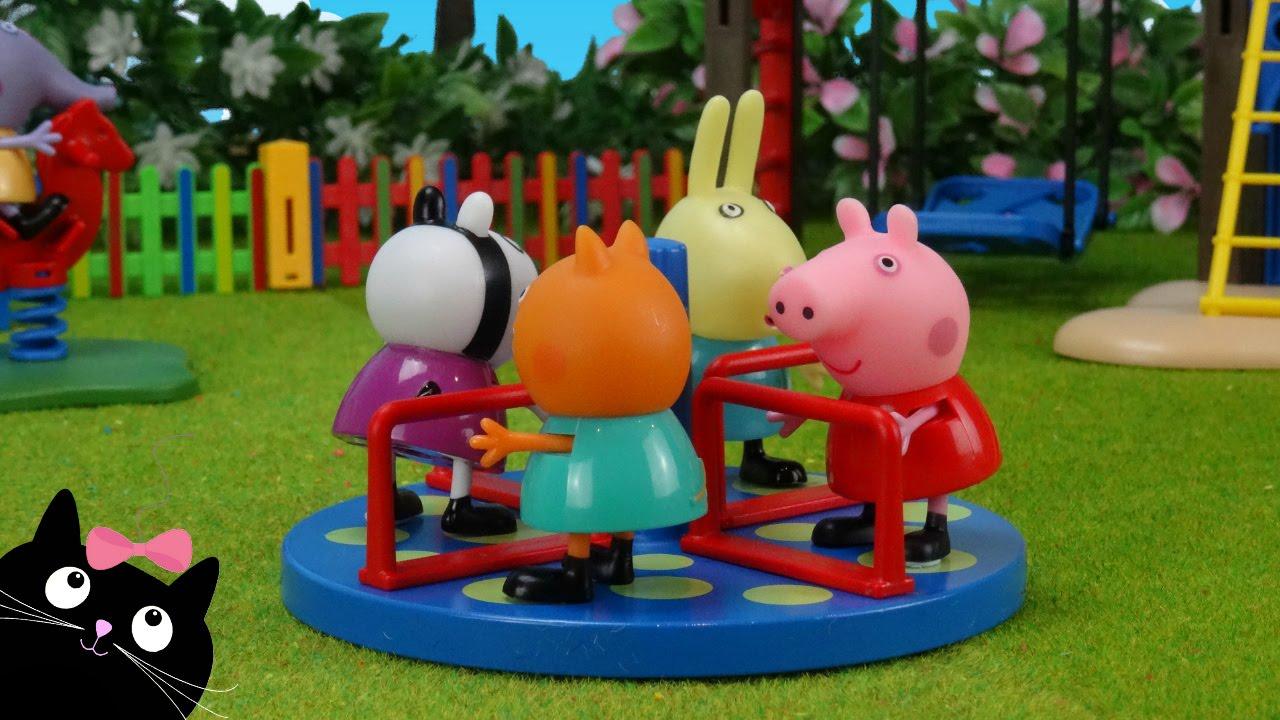 Peppa Pig y sus Amigos van a la Escuela y Juegan en el Parque de