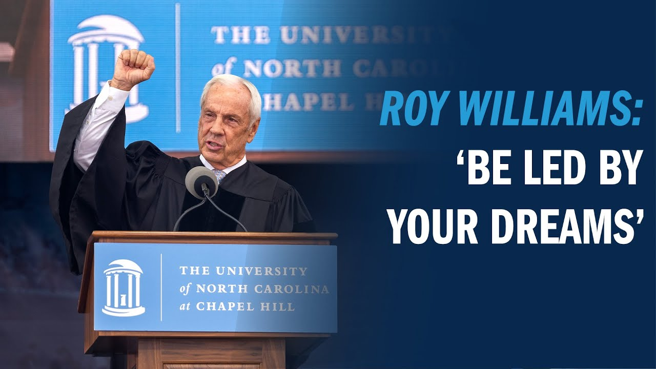 Video: Roy Williams delivers Commencement address at Class of 2020's graduation ceremony