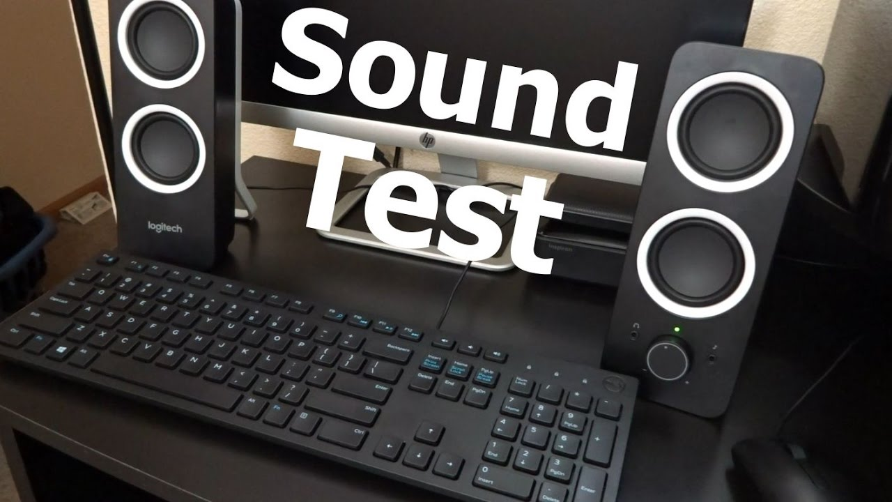 Logitech Z200 Speakers Sound Test on Mainstays Student Desk (Walmart's Best  Selling Desk)
