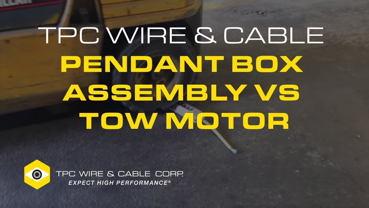 TPC Wire & Cable Pendant Box Assembly vs Tow Motor - YouTube