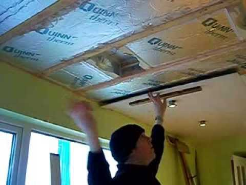 How To Fit Plasterboard To A Ceiling By Yourself Youtube