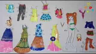 Куклы из бумаги с одеждой своими руками для детей