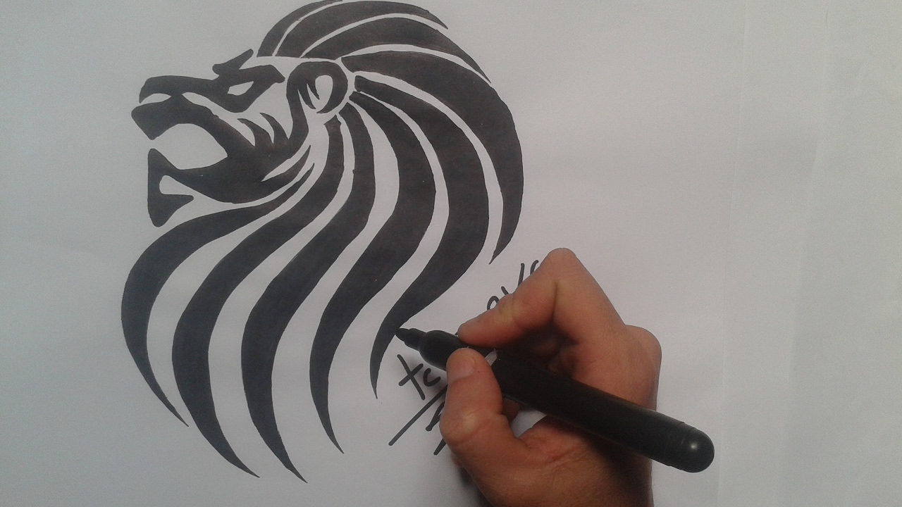 How To Draw Lion Tattoo Youtube