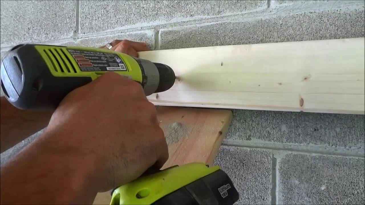 Using Tapcon Concrete Screws To Secure Wood To Cinderblock