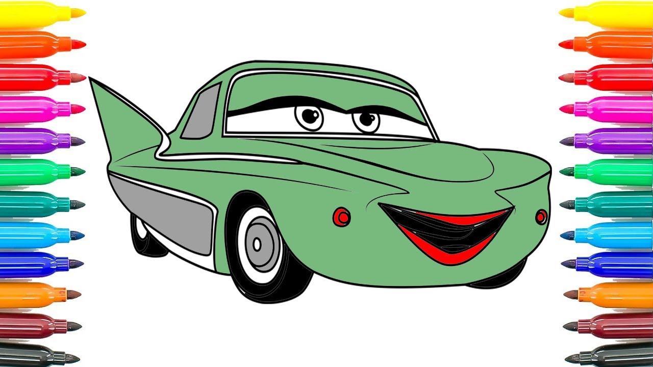 Nasıl Boyama Otomobilleri Için 3 Flo Boyama Sayfaları Nasıl Otomobil