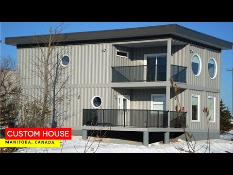 Custom Shipping Container House in Manitoba, Canada
