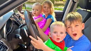 Five Kids We are in the car Song Nursery Rhymes & Children's Song