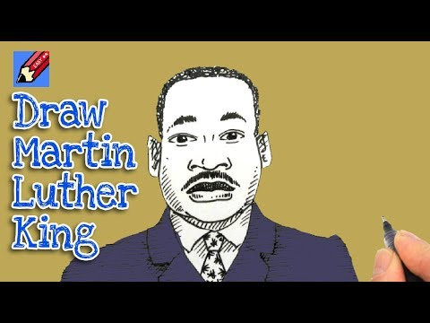 How to draw Martin Luther King Real Easy