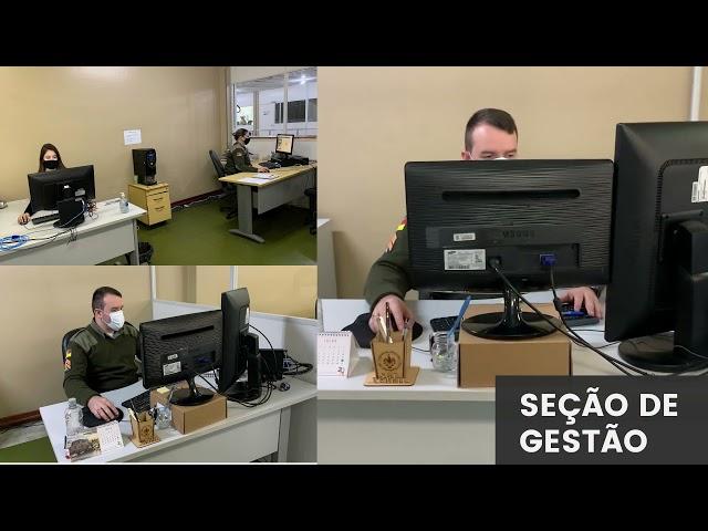 Vídeo Institucional apresentando efetivo e novas instalações do Departamento Administrativo da Brigada Militar.