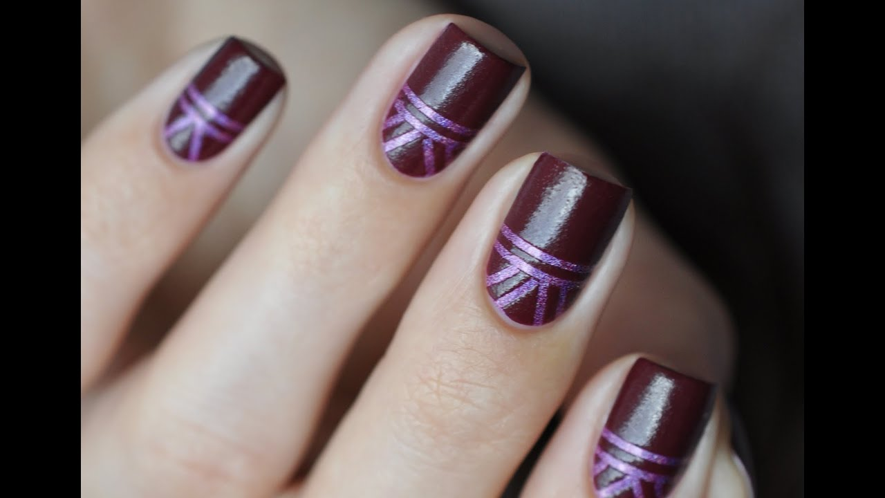 graphic design with stripes - nail