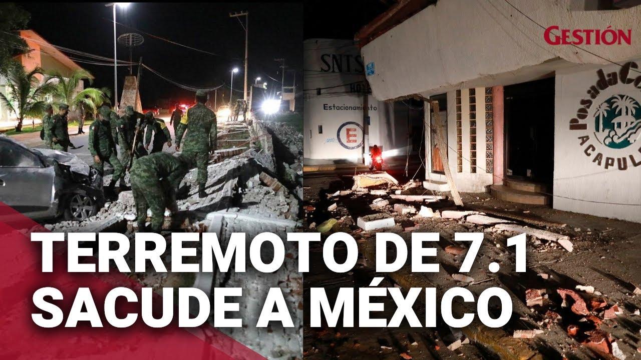 7 impactantes videos del potente terremoto en Mxico