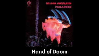 Black Sabbath - Hand of Doom (lyrics)