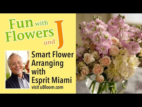How To Create Pretty Flower Arrangements With SMART Flowers From Esprit Miami!