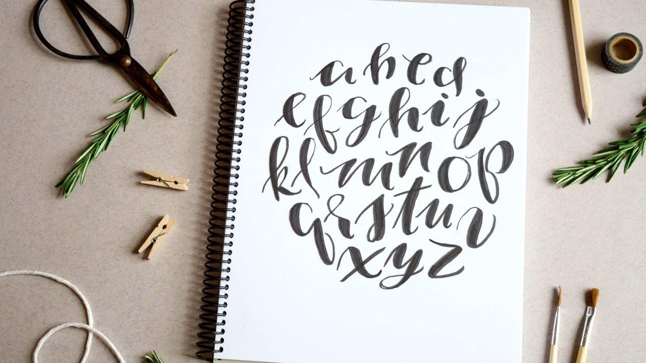 hand lettering an alphabet design